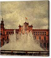 Plaza De Espana. Seville Canvas Print