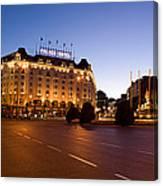Plaza De Neptuno And Palace Hotel Canvas Print