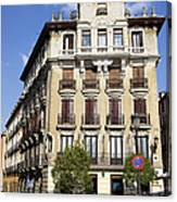 Plaza De Ramales Tenement House Canvas Print