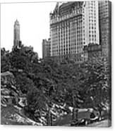 Plaza Hotel From Central Park Canvas Print
