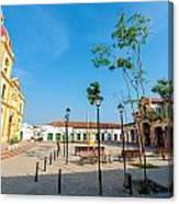 Plaza In Mompox Canvas Print