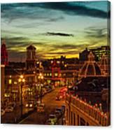 Plaza Lights At Sunset Canvas Print