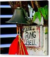 Please Ring Bell Canvas Print