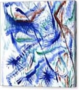 Plume Bleues Canvas Print