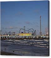 Pleasure Pier At Sunset Canvas Print