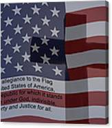 Pledge Of Allegiance Canvas Print