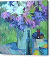 Plein Air Lilacs Canvas Print