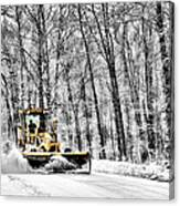 Plowin Snow Canvas Print