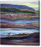 Plum Island Salt Marsh Sunset Canvas Print