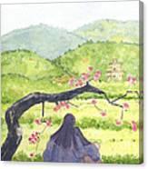 Plumb Blossom Love Canvas Print