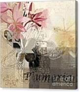 Plumeria - 064073079m3 Canvas Print