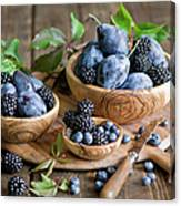 Plums And Berries Canvas Print