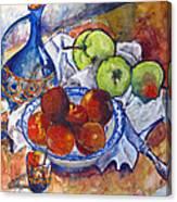 Plums Apples Canvas Print