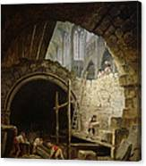 Plundering The Royal Vaults At St. Denis In October 1793 Oil On Canvas Canvas Print