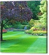 Plush Landscape Bucshart Gardens Canvas Print