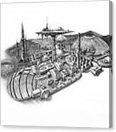 Pluto City Canvas Print