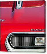Plymouth Barracuda Grille Emblem Canvas Print