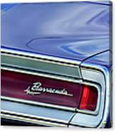 Plymouth Barracuda Taillight Emblem Canvas Print