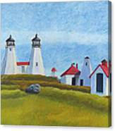 Plymouth Light Station Before 1924 Canvas Print