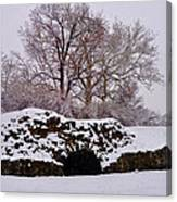 Plymouth Meeting Lime Kilns In The Snow Canvas Print