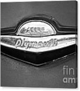 Plymouth Trunk Emblem Canvas Print