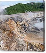 Poas Volcano Crater Canvas Print