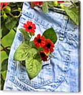 Pocket Full Of Posies Canvas Print