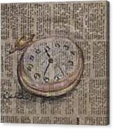 Pocket Watch Canvas Print