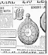 Pocket Watches, 1888 Canvas Print