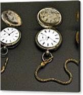 Pocket Watches Canvas Print