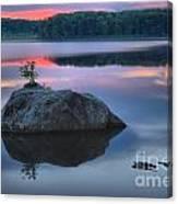 Poconos Sunset Mirror Canvas Print