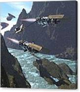 Pod Racers Competing For The Lead Canvas Print