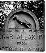 Poe's Original Burial Place Canvas Print
