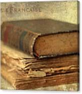 Poesie Francaise Canvas Print