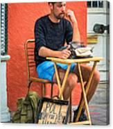 Poet For Hire - Paint Canvas Print
