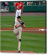 Jon Lester Poetry In Motion Canvas Print