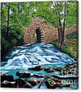 Poinsett Bridge I, Historic Landmark In Upstate Of South Carolina Canvas Print