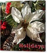 Poinsetta Christmas Card Canvas Print