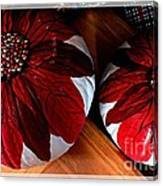 Poinsettias - Handmade - Crafts - Pumpkins Canvas Print