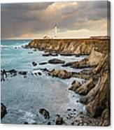 Point Arena Headland And Lighthouse Canvas Print