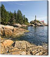 Point Atkinson Lighthouse In Vancouver Bc Canvas Print