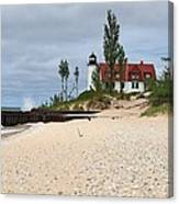 Point Betsie Lighthouse Classic View Canvas Print