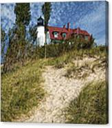 Point Betsie Lighthouse On Lake Michigan Canvas Print