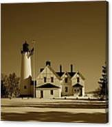 Point Iroquois Light Station Canvas Print