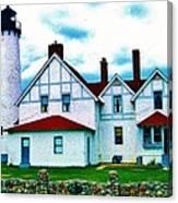 Point Iroquois Lighthouse Canvas Print