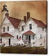 Point Iroquois Lighthouse Michigan Canvas Print