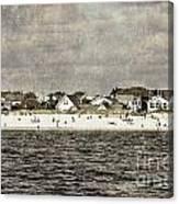 Point Lookout Beach  Vintage Canvas Print