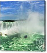 Point Of Land Cut In Two.. Canvas Print