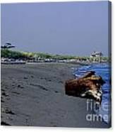 Point Wilson Lighthouse And Beach Canvas Print