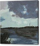 Pointe Aux Chein Blue Skies Canvas Print